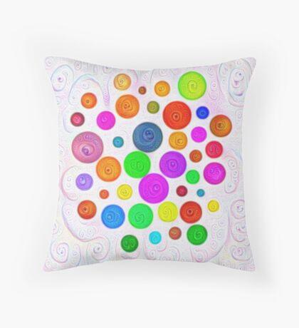 #DeepDream Color Circles Visual Areas 5x5K v1448374069 Throw Pillow