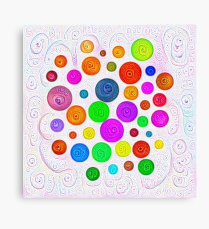#DeepDream Color Circles Visual Areas 5x5K v1448374069 Canvas Print