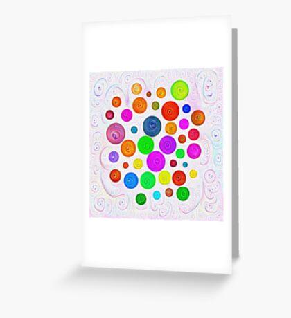 #DeepDream Color Circles Visual Areas 5x5K v1448374069 Greeting Card