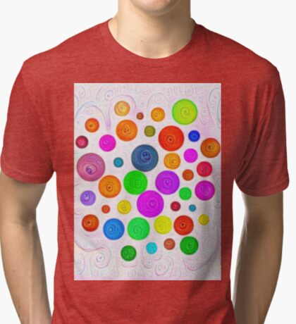 #DeepDream Color Circles Visual Areas 5x5K v1448374069 Tri-blend T-Shirt