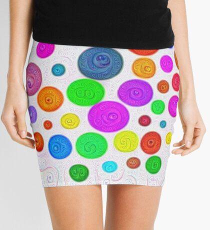 #DeepDream Color Circles Visual Areas 5x5K v1448374069 Mini Skirt