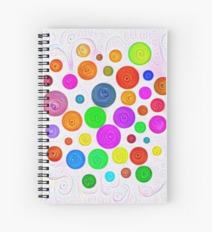 #DeepDream Color Circles Visual Areas 5x5K v1448374069 Spiral Notebook