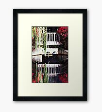 Burning Bush Bridge Framed Print