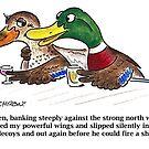 Cartoon: Mallards in bar by BruceCochran