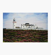 Loop Head Lighthouse, County Clare - oil painting Photographic Print