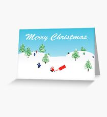 Winter snow scene Greeting Card