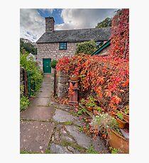 Path To Autumn Cottage Photographic Print