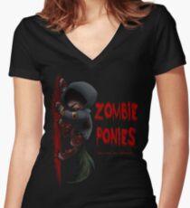 Hunter Pony Women's Fitted V-Neck T-Shirt