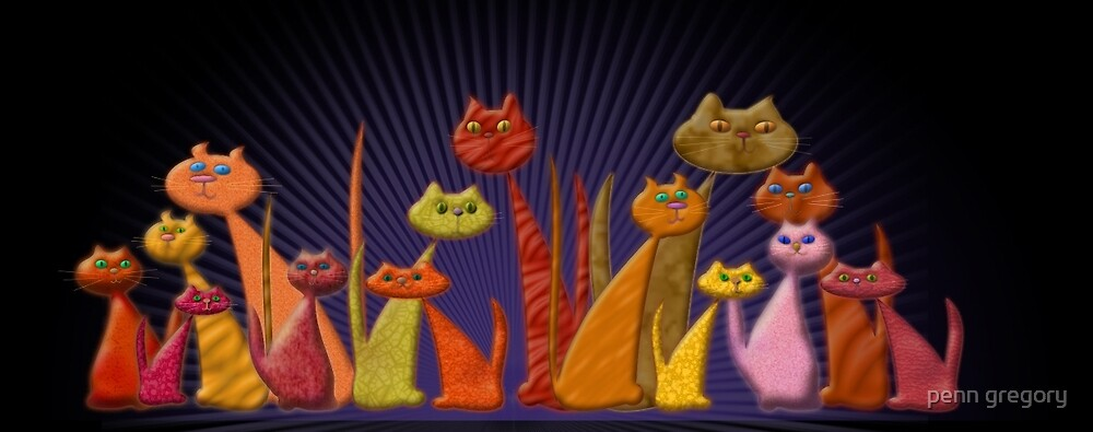 vector cats by penn gregory
