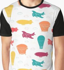 Pattern with aeronautic transport Graphic T-Shirt