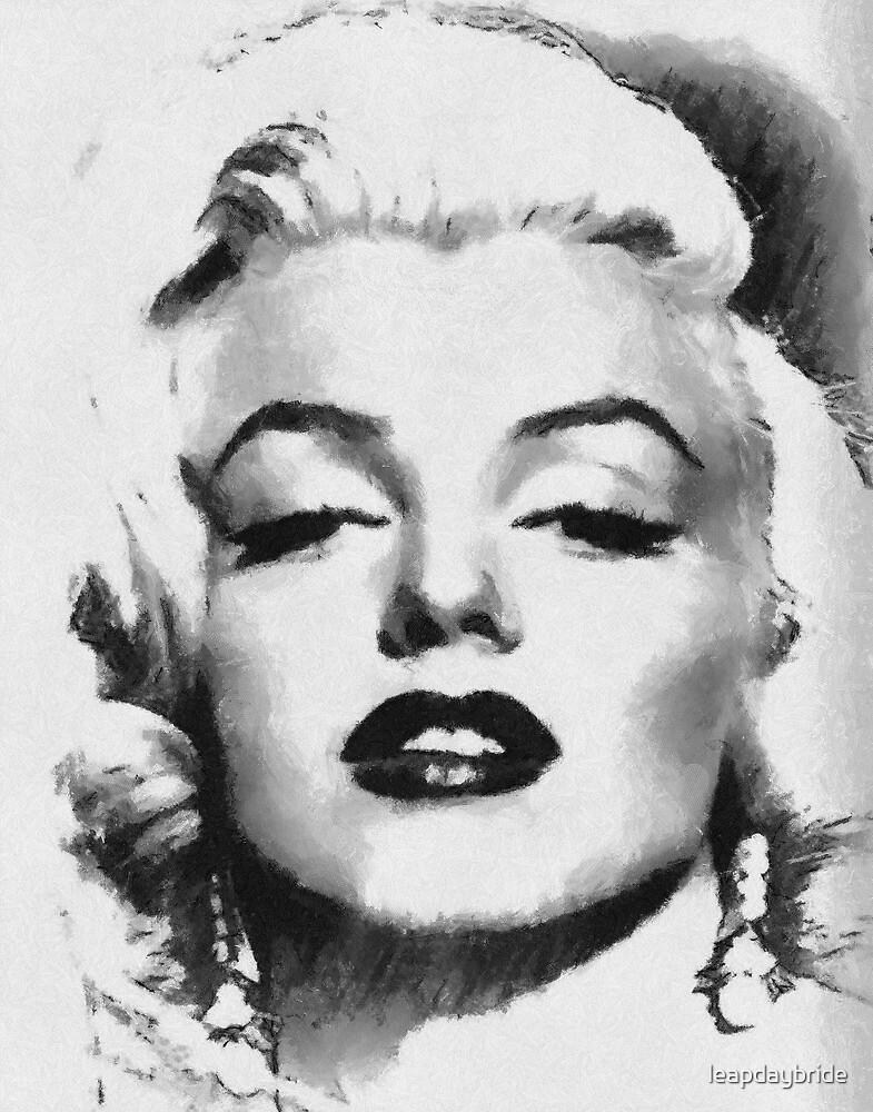 Marilyn -Grayscale  by leapdaybride