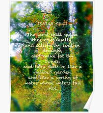 Watered Spring, Scripture Cards Poster
