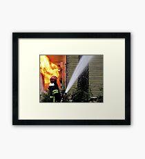 15.11.201212: Fireman at Work II Framed Print