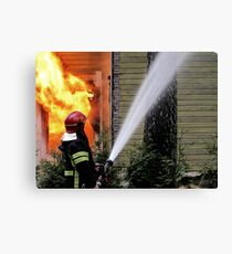 15.11.201212: Fireman at Work II Canvas Print