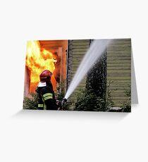 15.11.201212: Fireman at Work II Greeting Card