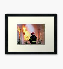 15.11.201212: Fireman at Work III Framed Print