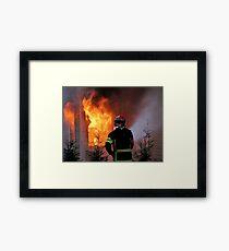 15.11.201212: Fireman at Work IV Framed Print