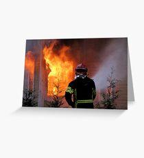 15.11.201212: Fireman at Work IV Greeting Card