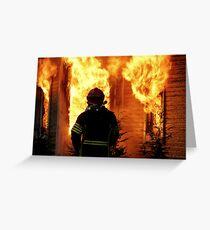 15.11.201212: Fireman at Work V Greeting Card