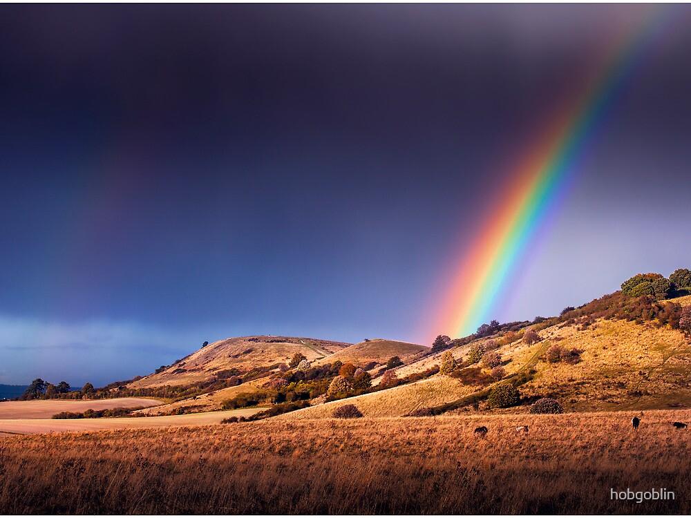 Ivinghoe Beacon Rainbow by hobgoblin