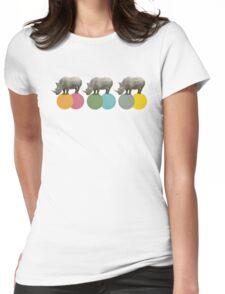 Rambling Rhinos Womens Fitted T-Shirt
