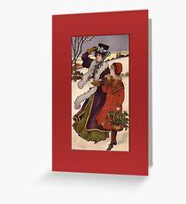 Holiday Stroll Christmas Card Greeting Card