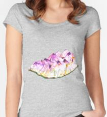 Amethyst Geode Women's Fitted Scoop T-Shirt