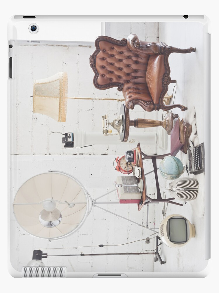 retro furniture and decoration in white room by naphotos