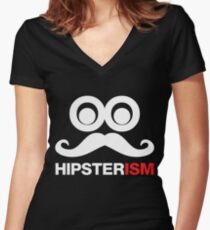 HIPSTERISM  Women's Fitted V-Neck T-Shirt