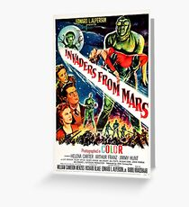 Invaders from Mars Greeting Card