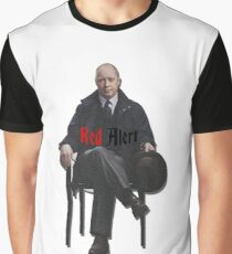 Raymond 'Red' Reddington - Red Alert Print Graphic T-Shirt