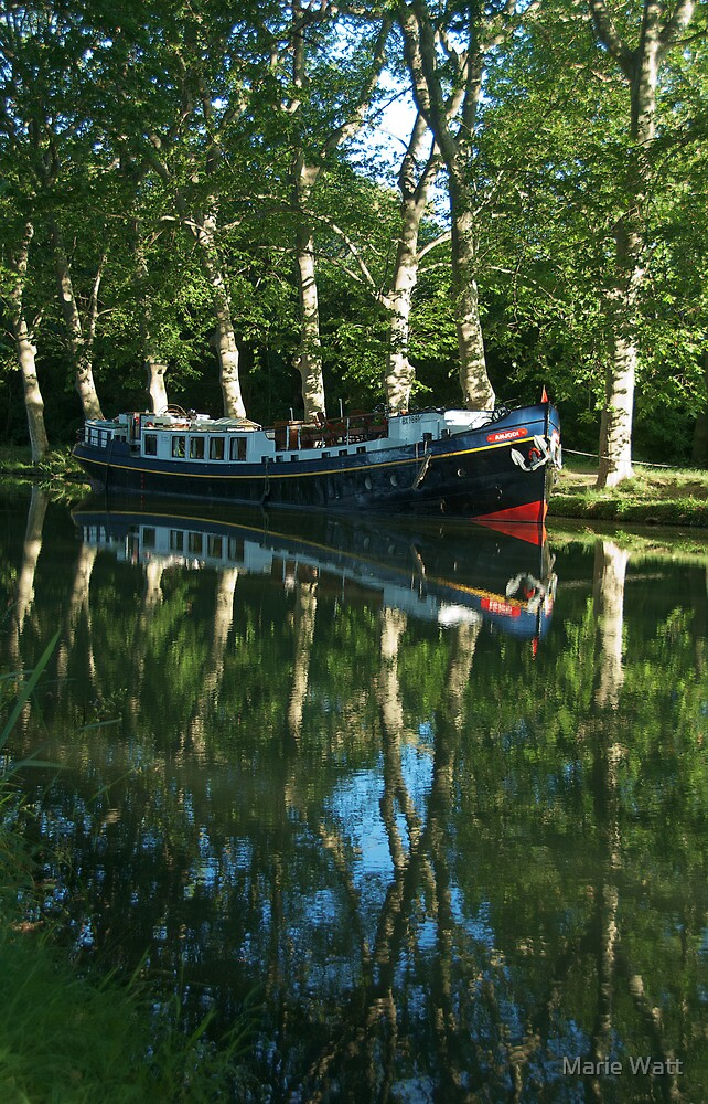 Canal du Midi, Provence, France by Marie Watt