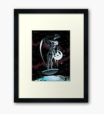 Lady Surfer Framed Print