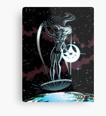Lady Surfer Metal Print