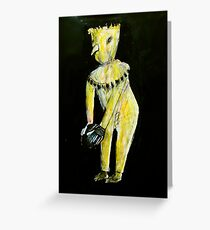 creature with football (emu egg) Greeting Card