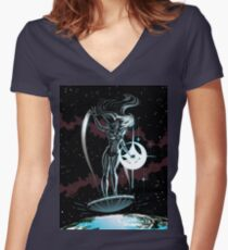 Lady Surfer Women's Fitted V-Neck T-Shirt
