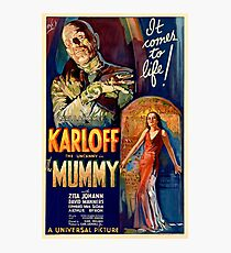 Mummy - Boris Karloff Photographic Print