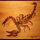 PYROGRAPHY: Scorpion by aussiebushstick