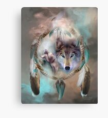Wolf - Dreams Of Peace Canvas Print