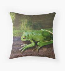 White-lipped Tree Frog Throw Pillow