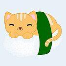 Sushi Cat Nigiri by alightedsylph