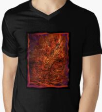 flame tree Mens V-Neck T-Shirt