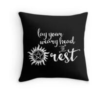 Lay Your Weary Head to Rest Throw Pillow