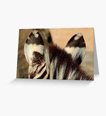Zebra Markings 2 Greeting Card