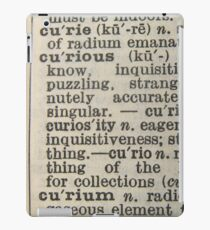 curious text ipad case iPad Case/Skin