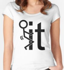 Adult Humor Stick Figure Women's Fitted Scoop T-Shirt