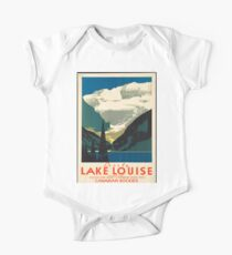 Vintage Travel Poster: Lake Louise One Piece - Short Sleeve