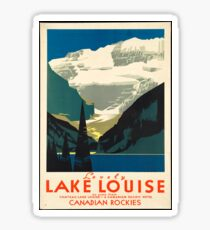 Vintage Travel Poster: Lake Louise Sticker