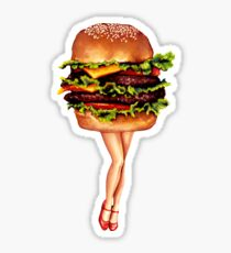 """Stacked"" - Cheeseburger Girl Sticker"