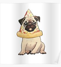 Pizza Pug Poster